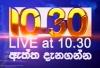Live at 10.30 Sinhala News  20-04-2019